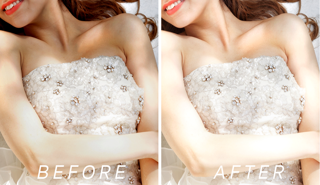 美白補正 before / after