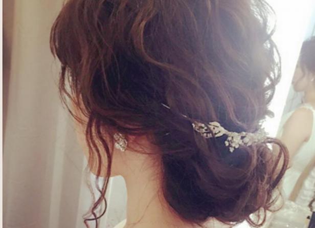 結婚式髪型