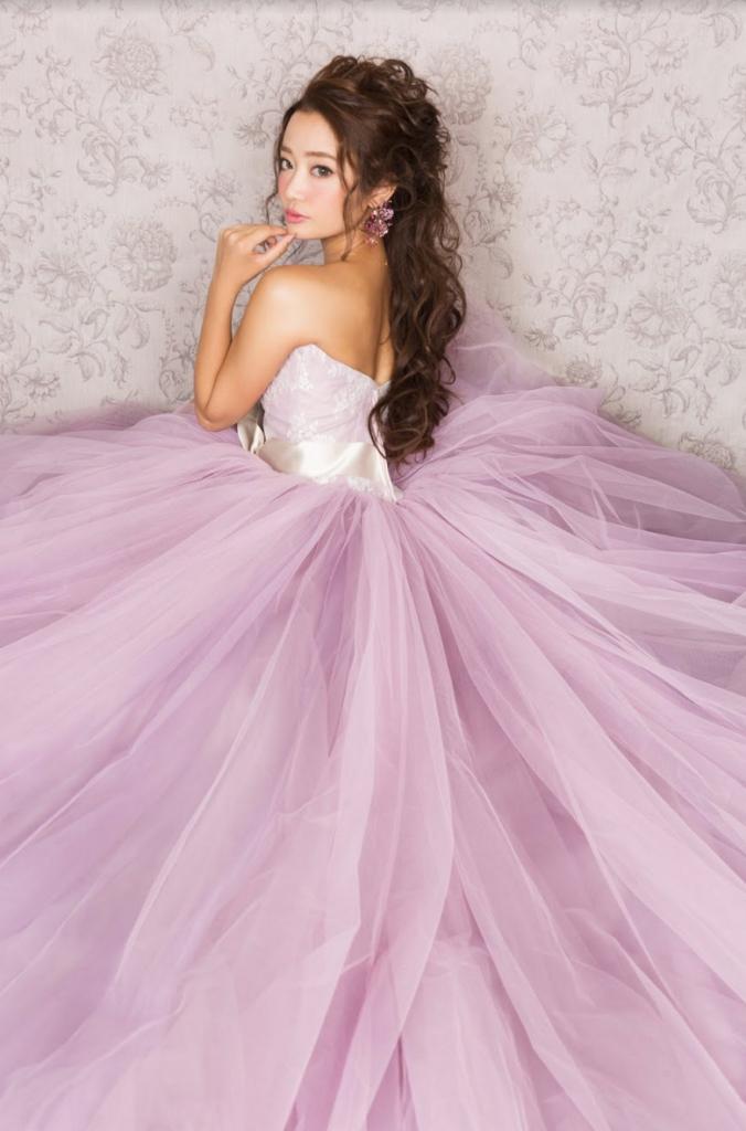 ピンク カラードレス